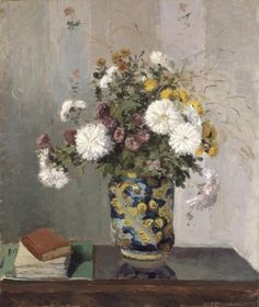 National Gallery of Ireland Camille Pissarro died in 1903. 'Chrysanthemums in a Chinese Vase' was purchased by the Gallery in 1983. via @National Gallery of Ireland