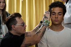 Johnny Depp Photos Photos - Johnny Depp with a patient of the Starkey Hearing Foundation at Four Season Hotel Ritz Lisbon on May 27, 2016 in Lisbon, Portugal. - Starkey Hearing Foundation Hearing Mission With Hollywood Vampires - Rock in Rio Lisboa 2016