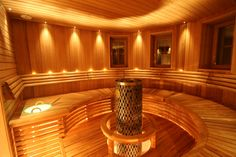 I would like this sauna in my house!  check out more at www.tahtisaunat.fi