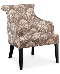 Tinsley Botanical Accent Chair, Direct Ship - Chairs - Furniture - Macy's