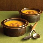 Spiced Pumpkin Soup With Gingered Brown Butter from Sunset Magazine.   This is sooooo good.
