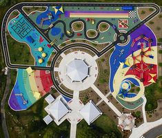 children Playground Masterplan - 10 Incredible and Diverse Playgrounds from Around the World that You Need to See [LIST Park Playground, Playground Design, Children Playground, Park Landscape, Urban Landscape, Design Maternelle, Landscape Architecture Design, Architecture Plan, Parque Linear