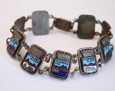 Vintage souvenir bracelet.  Mountains of by chicvintageboutique