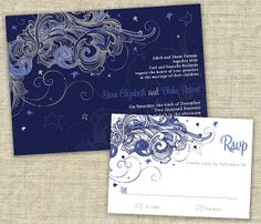 Starry Night Wedding Invitation Sample Set By Designsbyadj On Etsy 3 50 Van Gogh Would Have
