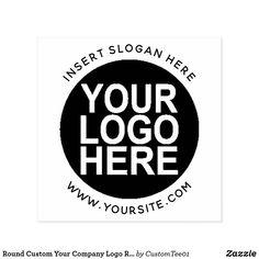 Round Custom Your Company Logo Rubber Stamp Logos Vintage, Logos Retro, Custom Self Inking Stamps, Custom Rubber Stamps, Business Stamps, Business Logo, Business Cards, Company Names, Company Logo
