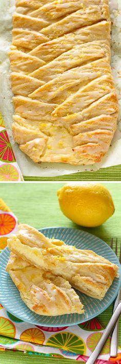 Lemon Cheesecake Braid