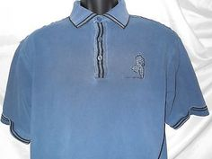 Marlboro Classics Polo Blue Logo is Large Vintage Polo Casual Man Shirt