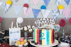 Vintage Circus Strongman Birthday Party via Kara's Party Ideas | Kara'sPartyIdeas.com #BigTop #Carnival #2ndBirthday #PartyIdeas #Supplies (22)