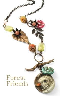 I'm the current Vintaj Art Bead Partner.  Free project and a Forest Friends Challenge are featured on their blog.