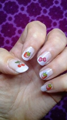Veggie nail art https://www.facebook.com/pages/Anny-nails-art-anny-lamande/551388051583198