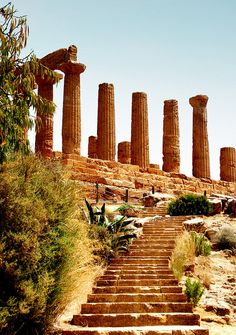 The Temple of Hera and Juno Lacinia, Agrigento, Sicily    Have a look at our website: www.italiaamicamia.com