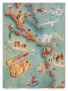 Caribbean Travel Ads (Vintage Art) Posters at AllPosters.com