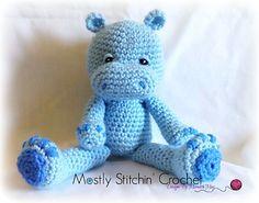 Hug-O-Pattamus!! Hippo Pattern - $4.25 by Meredith May