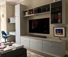 California Closets, Closet Organization, Flat Screen, Living Room, Furniture, Home Decor, Blood Plasma, Decoration Home, Room Decor