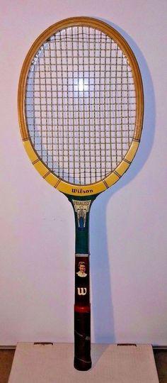 VTG Maureen Connolly Mo Tennis Racquet Wilson Finalist Wooden Photo Signature #Wilson
