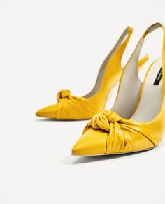 Image 7 of KNOTTED LEATHER HIGH HEEL SLINGBACK SHOES from Zara