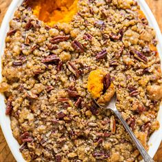 I love sweet potatoes and have a ton ofrecipesusing them from bread to enchiladas but I was missing a classic: sweet potato casserole. It was about time I made it and we loved everybite because this isn't just any ole sweet potato casserole. The crunchy butter pecan crumble topping really sets it apart. It's an …