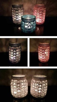 How To Crochet Mason Jar Covers (Free Pattern) - HouseKeeperMag.com