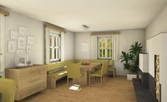 Esszimmer mit Ofen Corner Desk, Furniture, Home Decor, Dining Rooms, Timber Wood, Homes, Lawn And Garden, Essen, Corner Table