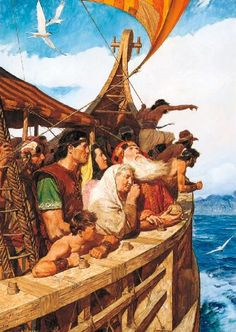 Lehi and his people arrive in the promised land