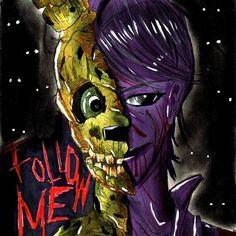 Concept art of The Purple Guy from #fnaf #fivenightsatfreddys #purpleguy #art #springtrap #fnafsisterlocation #fnafsl #fanart #handdrawn #drawings
