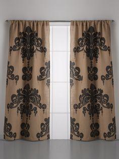 Couture Dreams Enchantique Natural Bark Jute Curtain Pair
