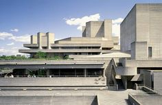 The Royal National Theatre, London, UK - Atelier Ten British Architecture, Futuristic Architecture, Residential Architecture, Architecture Design, Royal National Theatre, Brutalist Buildings, Colani, Dome House, Environmental Design