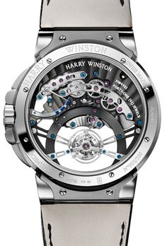 Harry Winston Ocean Tourbillon Jumping Hour Watch...So pretty I don't even care if I can't read the time on it.