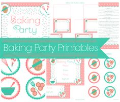 Baking party printables