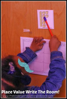 Place Value Around the Room! Get students up and moving with Walk, Count and Write The Room for place value practice! Kindergarten Smorgasboard, Kindergarten Math, Teaching Math, Math Enrichment, Math Activities, Math Stations, Math Centers, Math Writing, Writing Ideas