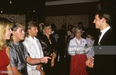 News Photo : Prince Edward meets pop group Bucks Fizz after...