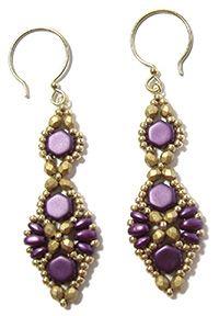Babette Earrings at AroundTheBeadingTable.com