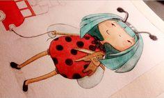 www.lespetitsbrins.com Illustration jeunesse - cocinnelle - aquarelle