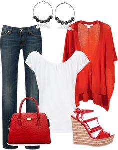 """""""Red Accents"""" by mhuffman1282 on Polyvore"""