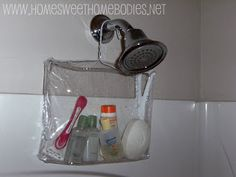 Perfect For The Gym Diy Home Sweet Homebos Plastic Zipper Bag To Shower Caddy