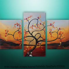 Abstract Modern Landscape Asian Tree Art by Gabriela by Catalin