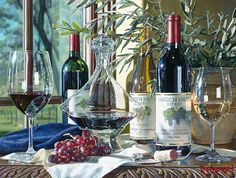 "Artist Eric Christensen called ""the wine artist."" He hyperrealist and paints still lifes of wine. Erik Kristensen (Eric Christensen) studied music and botany, tried to write. And all these things did not give creative satisfaction. And suddenly, he began to draw. It happened twenty years ago. He painted watercolors in very unusual technique – dry-brush. So write oil. And watercolor since you can not write. But, Eric didn't know about it. He studied at art school. A typical self-taught…"