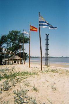 The beach area along the Rio de la Plata in Colonia, Uruguay.