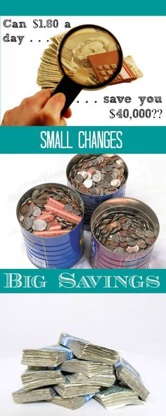Can $1.80 a day save you $40,000? See how little savings add up