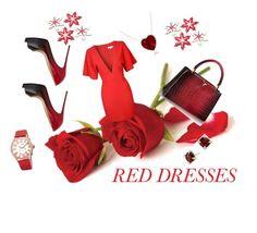 """hot red"" by samra-alic ❤ liked on Polyvore featuring Glamorous, Christian Louboutin, bürgi, David Yurman, women's clothing, women, female, woman, misses and juniors"