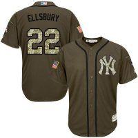 New York Yankees #22 Jacoby Ellsbury Green Salute to Service Sti