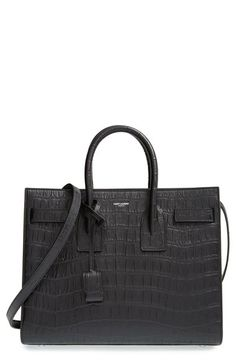 Saint Laurent 'Small Sac de Jour' Croc Embossed Leather Tote AED 11811.76
