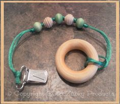 St. Patty's Day Irish Shamrock Zúbky Lasso for Your Wood Teether - Doubles as Binky Pacifier Clip or Sophie the Giraffe Leash and More on Etsy, $6.00