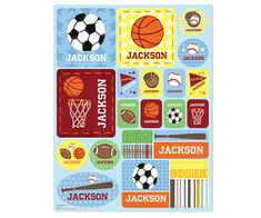 Sports #Personalized #Stickers - Blue