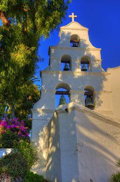 Mission San Diego de Alcala, CA California Missions, California History, California Dreamin', Old Country Churches, Old Churches, Pacific Coast Highway, Santa Monica, Big Sur, Newport Beach