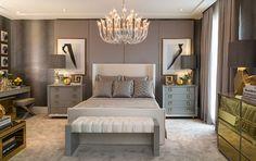 Decor Salteado - Blog de Decoração e Arquitetura : Cinza e dourado na decoração - veja ambientes maravilhosos com essa tendência!