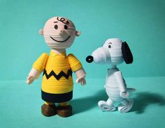 3D quilled Charlie Brown and Snoopy.