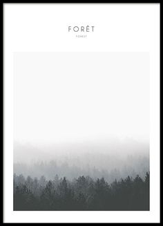 Foret, poster - 50x70Motagne, poster - 50x70...