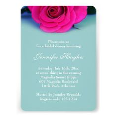 Blue Bridal Shower Invitation #blue #bridal #stationery