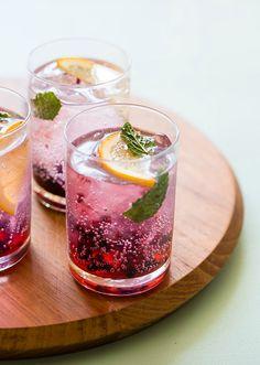 Blackberry+ Meyer Lemon Gin & Tonics